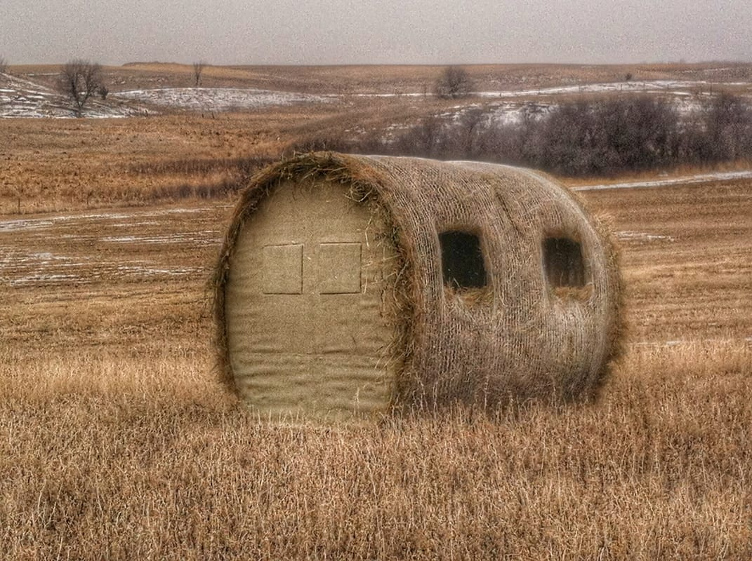 hay river pinterest bushcraft bow and blind blinds bale loafer bales hunting woods pin deer bail rat